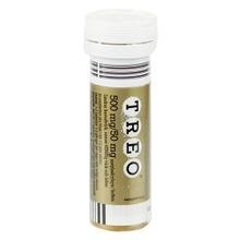 Treo - Brustablett 500 mg/50 mg Acetylsalicylsyra + koffein 10 styck