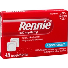 Rennie - Tuggtablett 680 mg/80 mg 48 styck
