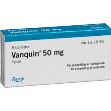 Vanquin 50 mg mot springmask - Dragerad tablett. 8 st