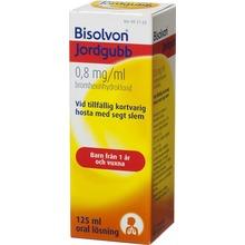 Bisolvon Jordgubb - Oral lösning 0,8 mg/ml 125 milliliter