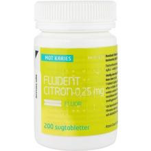Fludent Citron - Sugtablett 0,25 mg 200 styck