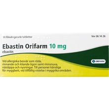 Ebastin Orifarm - Filmdragerad tablett 10 mg Ebastin 30 styck