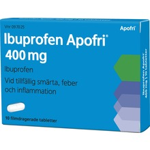 Ibuprofen Apofri - Filmdragerad tablett 400 mg Ibuprofen 10 tablett(er)